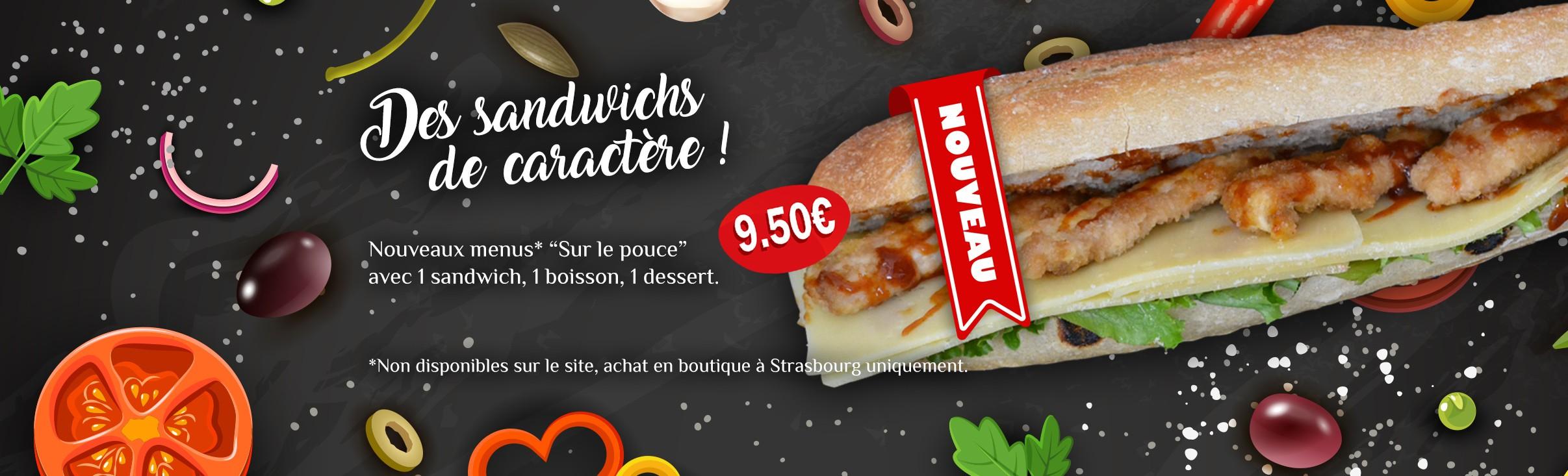 Des sandwichs de caractère !